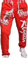 jeansian Men's Alphabet Printed Sport DrawString Baggy Long Pants Sweatpants S435 L