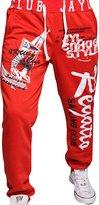jeansian Men's Alphabet Printed Sport DrawString Baggy Long Pants Sweatpants S435 M
