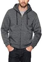 U.S. Polo Assn. Mens Standard Sherpa Lined Fleece Hoodie