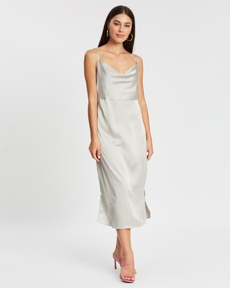 Missguided Satin Cowl Cami Slip Midi Dress