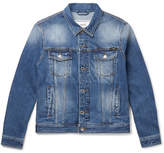 Ami Slim-fit Denim Jacket - Blue