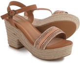 Bamboo Aspen Platform Espadrille Sandals (For Women)