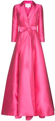 Carolina Herrera Belted Tuxedo Maxi Dress