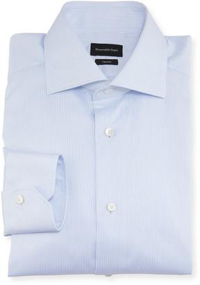 Ermenegildo Zegna Men's Narrow Stripe Trim-Fit Cotton Dress Shirt
