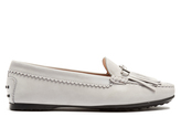 Tod's Gommini double T-bar nubuck loafers