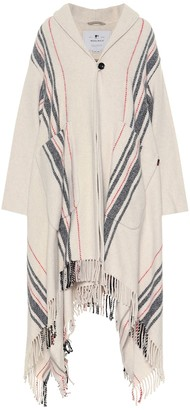 Woolrich Striped wool-blend poncho