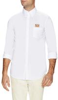 Fendi Solid Bag Bug Patch Dress Shirt