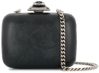 Alexander McQueen Embossed Jewel Box Crossbody Bag