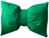 Kelly Green Bow Throw Pillow