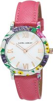 Laura Ashley Women's LA31003PK Floral Stainless Steel Watch with Pink Strap