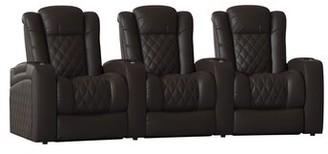 Red Barrel Studioâ® Continental Home Theater Row Seating (Row of 3) Red Barrel StudioA Body Fabric: Classic Coffee