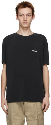 we11done Black Jersey Oversized T-Shirt