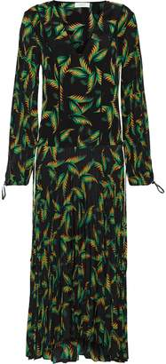 A.L.C. Brooks Printed Silk Midi Dress