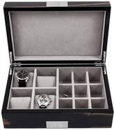 Bey-Berk Men's Four Watch & Cufflink Case