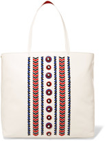 Tory Burch Embellished leather tote