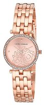 Laura Ashley Women's Quartz Metal and Alloy Casual Watch, Color:Rose Gold-Toned (Model: LA31021RG)