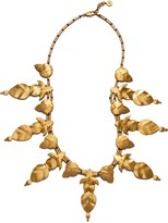 Tory Burch HAMMERED WILLOW-LEAF NECKLACE
