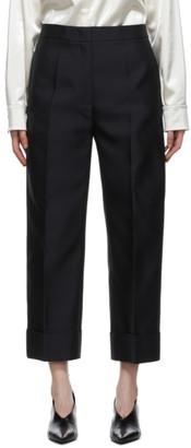 Jil Sander Navy Gabardine Essential Trousers