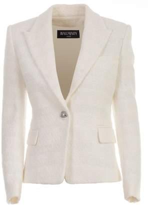 Balmain Blazer One Button Tweed