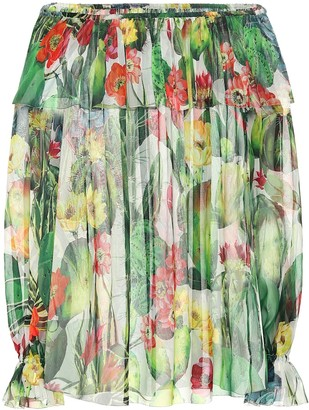 Dolce & Gabbana Exclusive to Mytheresa Printed chiffon off-shoulder blouse