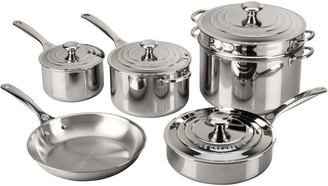 Le Creuset Stainless Steel 10-Piece Cookware Set