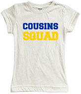 Urban Smalls Cream 'Cousins Squad' Fitted Tee - Toddler & Girls