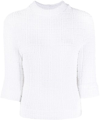 Cecilie Bahnsen Textured Mock Neck Top