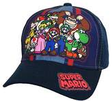 Nintendo Super Mario Family Navy Baseball Cap – Size Boys' 4-14 [6014]
