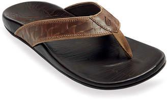 OluKai Men's Hikianalia Leather Beach Sandals
