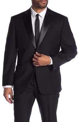 Calvin Klein Notch Collar Wool Tux Jacket