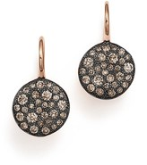 Pomellato Sabbia Burnished 18K Rose Gold Earring with Brown Diamonds
