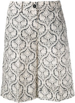 Twin-Set printed shorts - women - Cotton/Linen/Flax - 38