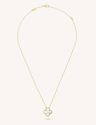 Van Cleef & Arpels Women's Yellow Gold Vintage Alhambra And Mother-Of-Pearl Pendant