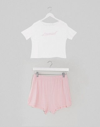 Adolescent Clothing love sick t-shirt and shorts pyjama set