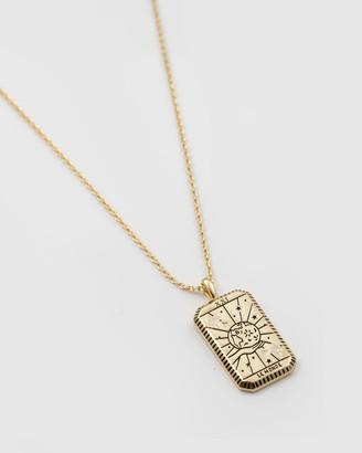 Wanderlust + Co Le Monde Gold Necklace
