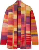 The Elder Statesman Italy Striped Cashmere Cardigan - Pink