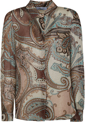 Blumarine Paisley Print Pleated Shirt