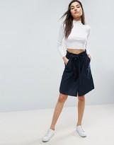 Vila Belted Drawstring Skirt