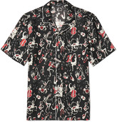 Dolce & Gabbana - Printed Silk-twill Shirt