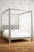 Anthropologie Bone Inlay Four Poster Bed