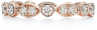 Tiffany & Co. JazzTM band ring in 18ct rose gold with diamonds