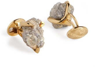 Tateossian Yellow Gold And Natural Diamond Cufflinks