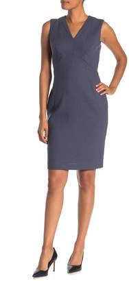 Lafayette 148 New York Kendal V-Neck Sleeveless Wool Sheath Dress