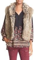 Joie 'Pruce' Reversible Faux Fur & Knit Vest
