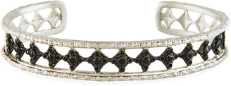 Armenta New World Blackened Eternity Crivelli Cuff Bracelet with Black Spinel