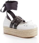 Miu Miu Women's Ankle Wrap Platform Espadrille