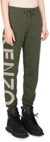 Kenzo Classic Logo-Side Cotton Jogger Pants, Olive