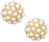 Charter Club Erwin Pearl Atelier for Gold-Tone Mini Imitation Pearl Cluster Stud Earrings, Only at Macy's