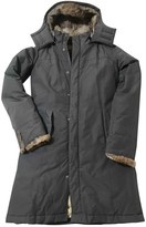 Woolrich Anthracite Cotton Coat for Women