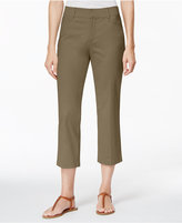 JM Collection Cropped Twill Capri, Only at Macy's